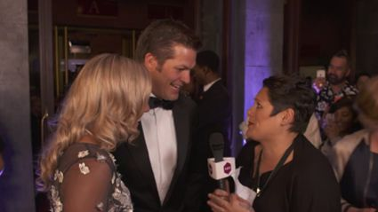 Anika Moa Tackles Richie McCaw on the Red Carpet