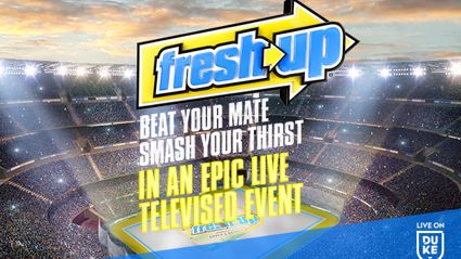 BEAT YOUR MATE. SMASH YOUR THIRST. IN AN EPIC LIVE TV BROADCAST.