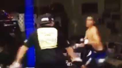 Man get's knocked out to then wake up and fight the ref