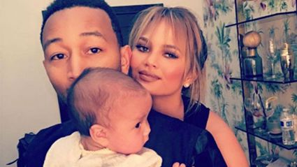 John Legend joins family for Christmas photo, even though he's in Paris