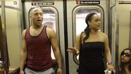 The Lion King cast takeover a New York train and it's amazing