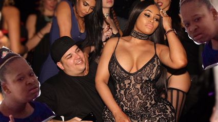 Blac Chyna pregnancy rumours may have just been squashed after he night out on the town