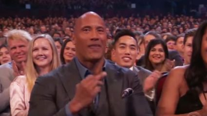 The Rock snapped giving Kevin Hart the 'Naughty Salute' on camera