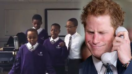 Young kids bust out bars and take Prince Harry to rap school