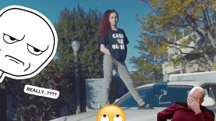 Cash me ousside girl can be caught on a new hip hop video