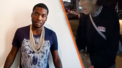 "Meek Mill might be taking heat for ""bullying"" homeless man"