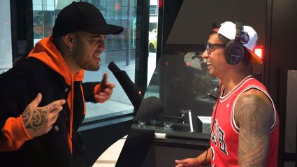 WATCH: Why Stan Walker had to scull a WHOLE bottle of wine