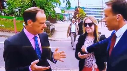 WATCH: Reporter gets slapped on live television for this pretty awkward moment