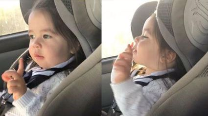 This toddler waiting for the beat to drop is the best thing you'll see today