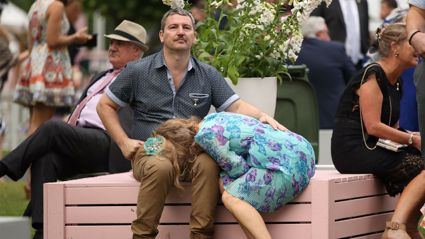 PHOTOS: LOL at these wasted people at the Melbourne Cup!