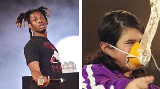 Denzel Curry watches Air NZ safety video and his reaction was HILARIOUS!