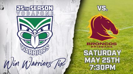 WIN TICKETS TO THE VODAFONE WARRIORS vs. BRONCOS