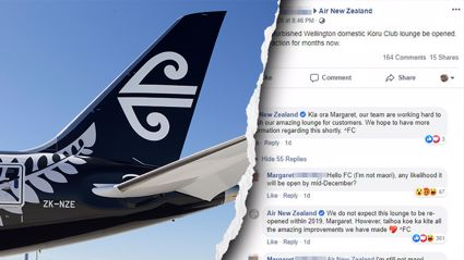Photo / Getty Images & Facebook - Air New Zealand