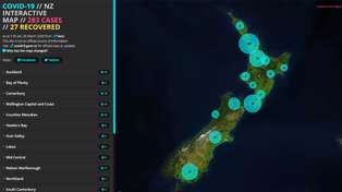 Photo / Screengrab - covid19map.co.nz