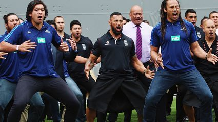 Former All Black Greats, Vodafone Warriors & Auckland Blues Players Haka For Jonah