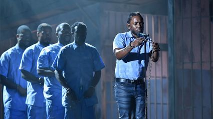 "WATCH: Kendrick Lamar Drops ""Untitled 3"" During Powerful Grammys Performance"